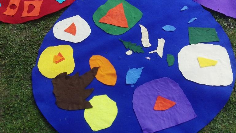felt data maps made by school children