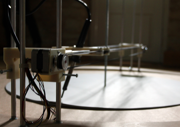 the climate machine drawing C02 data into paper using heat